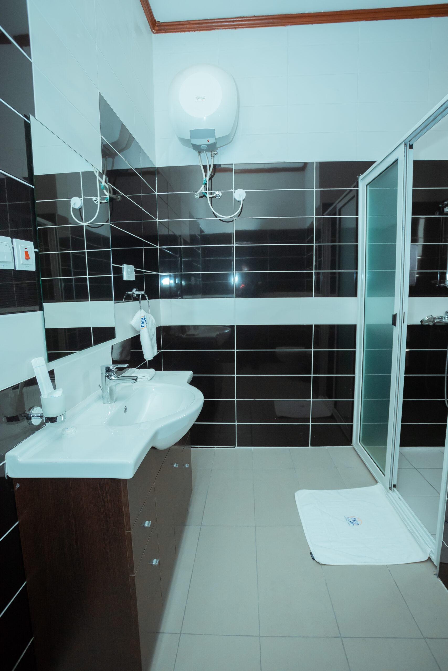 river bathroom
